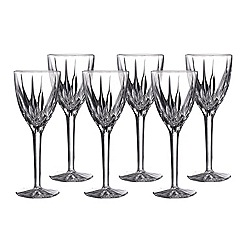 Royal Doulton - Set of 6 'Flame' wine glasses