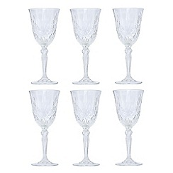Royal Crystal Rock - Clear RCR crystal white wine goblets