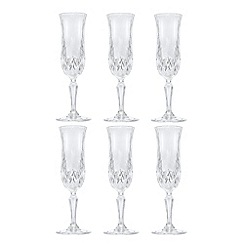 Royal Crystal Rock - Clear RCR crystal champagne flutes