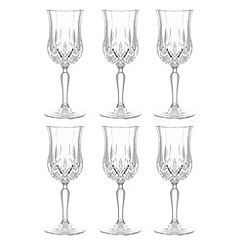 Royal Crystal Rock - Set of six wine goblets