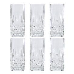 Royal Crystal Rock - Clear RCR crystal hi-ball glasses