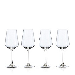 J by Jasper Conran - Set of 4 crystal 'Calvello' small white wine glasses