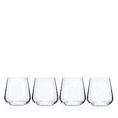J by Jasper Conran - Set of 4 crystal 'Calvello' tumblers