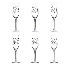 Istyle - Set of six star print flute glasses