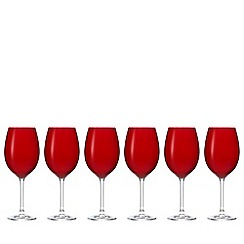 Istyle - Pack of six red wine glasses