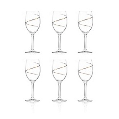 Star by Julien Macdonald - Set of six gold wine glasses