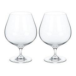 J by Jasper Conran - Set of two designer brandy glasses