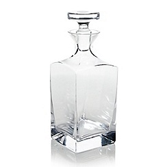 J by Jasper Conran - Large designer square glass decanter