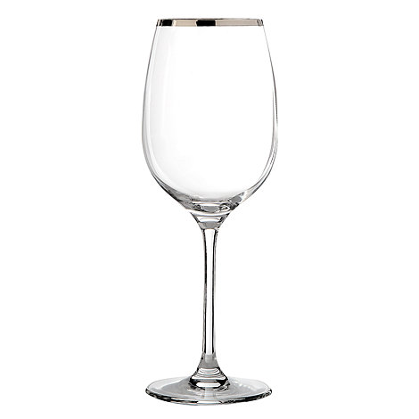 J by Jasper Conran - Large platinum band wine glass