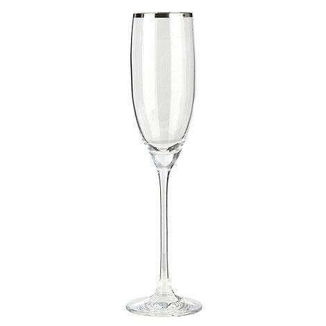 J by Jasper Conran - Platinum band champagne flute