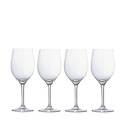 J by Jasper Conran - Designer 'Audley' set of four large wine glasses