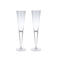J by Jasper Conran - Designer set of two glass celebration flutes