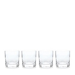 J by Jasper Conran - Designer set of four 'Belgravia' tumbler glasses