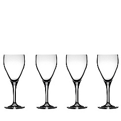 J by Jasper Conran - Designer 'Delaney' set of four white wine glasses