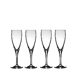 J by Jasper Conran - Designer 'Delaney' set of four champagne flutes