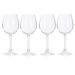 J by Jasper Conran - Set of four designer crystalline 'Cavendish' wine glasses