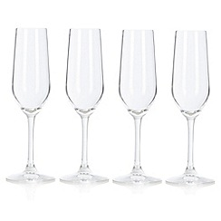 J by Jasper Conran - Set of four designer crystalline 'Cavendish' flutes