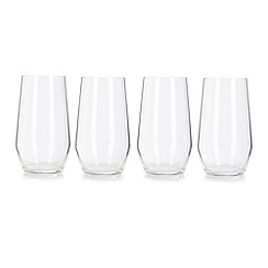 J by Jasper Conran - Set of four designer crystalline 'Cavendish' hi-ball glasses