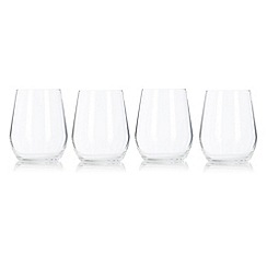 J by Jasper Conran - Set of four designer crystalline 'Cavendish' tumblers