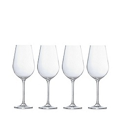 J by Jasper Conran - Designer set of four crystalline 'Belgravia' red wine glasses