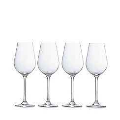 J by Jasper Conran - Designer set of four crystalline 'Belgravia' white wine glasses