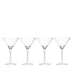 J by Jasper Conran - Set of four crystalline martini glasses