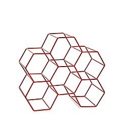 Ben de Lisi Home - Red honeycomb wine rack