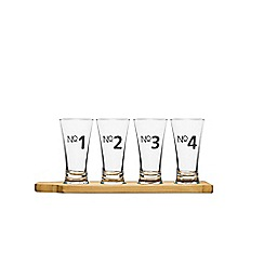 Sagaform - Set of 4 beer glasses and board
