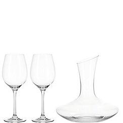Leonardo - Decanter set with 2 red wine glasses