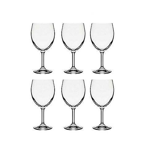 Debenhams - Set of six wine glasses