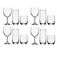 Set of twelve glasses