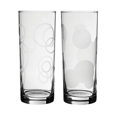 Home Collection Basics - Set of six circle hi-ball glasses