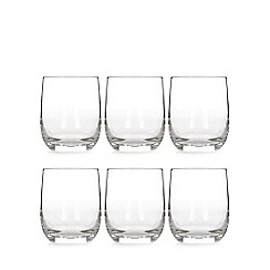 Home Collection Basics - Set of six glass tumblers