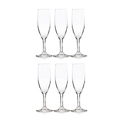 Home Collection Basics - Set of six glass flutes