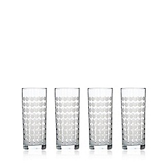 Home Collection Basics - Set of four spotted hi-ball glasses