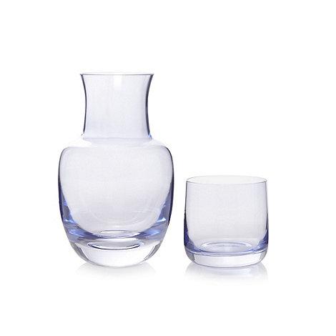 Debenhams - Glass lilac carafe and tumbler