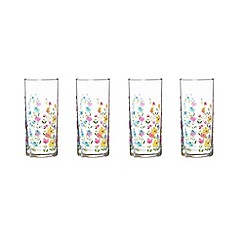 At home with Ashley Thomas - Set of four floral printed hi-ball glasses