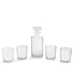 Debenhams - Five piece 'Castalia' crystal whiskey set