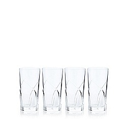 Home Collection - Set of 4 crystal 'Beatrice' highball glasses