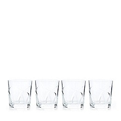 Debenhams - Box of four 'Beatrice' crystal tumblers