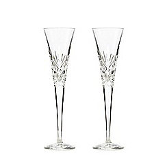 Home Collection - Set of 2 'Castalia' champagne flutes
