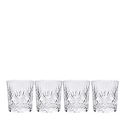 Debenhams - Set of four 'Castalia' crystal tumblers