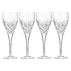 Debenhams - Set of four 'Castalia' crystal wine glasses