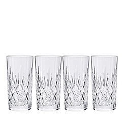 Debenhams - Set of four 'Castalia' carved hi-ball tumblers