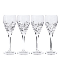Debenhams - Set of four crystal 'Castalia' small wine glasses