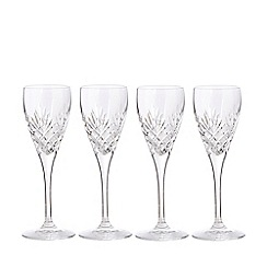 Debenhams - Set of four crystal 'Castalia' liqueur glasses