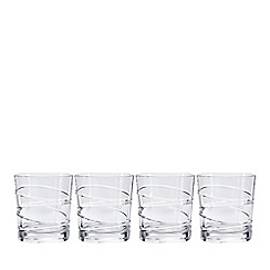 Debenhams - Set of four 'Aria' crystal tumblers