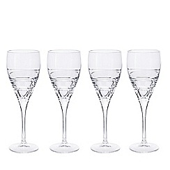 Debenhams - Set of four 'Aria' crystal large wine glasses