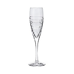 Debenhams - Set of four 'Aria' crystal flutes