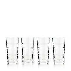 Home Collection - Set of 4 crystal 'Aria' highball glasses
